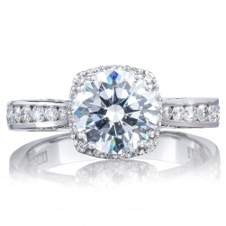 2646-3RDC75 Platinum Tacori Dantela Engagement Ring