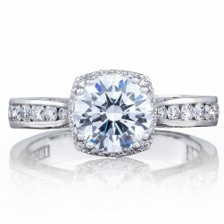 2646-3RDC7 Platinum Tacori Dantela Engagement Ring