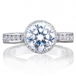 2646-3RDR75 Platinum Tacori Dantela Engagement Ring