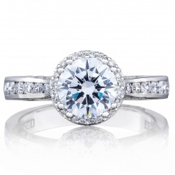 2646-3RDR7 Platinum Tacori Dantela Engagement Ring