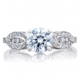 2648RD65 Platinum Tacori Ribbon Engagement Ring