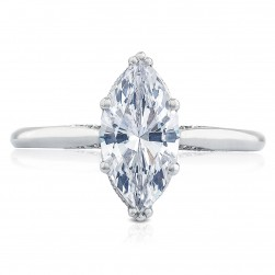 2650MQ12X6 Platinum Simply Tacori Engagement Ring