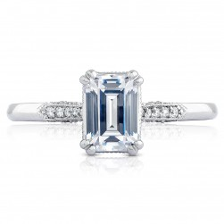 2651EC7X5 Platinum Simply Tacori Engagement Ring