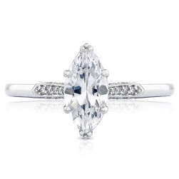2651MQ10X5 Platinum Simply Tacori Engagement Ring