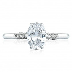 2651OV75X55 Platinum Simply Tacori Engagement Ring