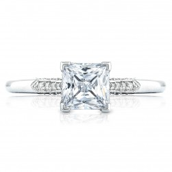 2651PR55 Platinum Simply Tacori Engagement Ring