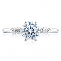 2651RD65 Platinum Simply Tacori Engagement Ring