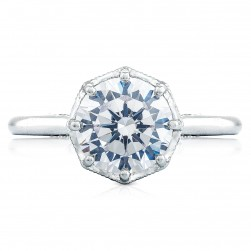 2652RD8 Platinum Simply Tacori Engagement Ring