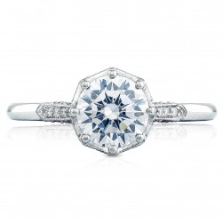 2653RD65 Platinum Simply Tacori Engagement Ring