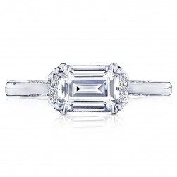 2654EC75X55 Platinum Simply Tacori Engagement Ring