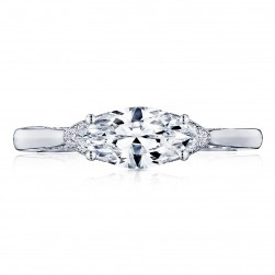 2654MQ10X5 Platinum Simply Tacori Engagement Ring