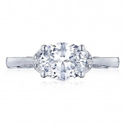 2654OV85X65 Platinum Simply Tacori Engagement Ring