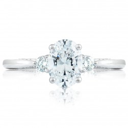 2656OV75X55 Platinum Simply Tacori Engagement Ring