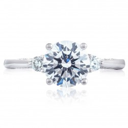 2656RD75 Platinum Simply Tacori Engagement Ring