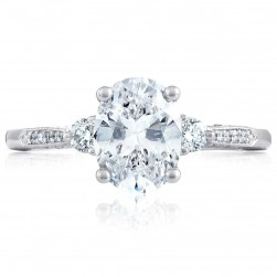 2657OV85X65 Platinum Simply Tacori Engagement Ring