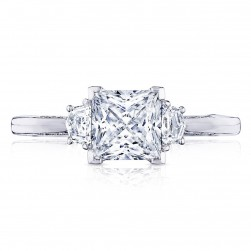 2658PR6 Platinum Simply Tacori Engagement Ring