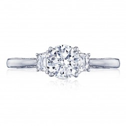 2658RD6 Platinum Simply Tacori Engagement Ring