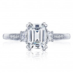 2659EC75X55 Platinum Simply Tacori Engagement Ring