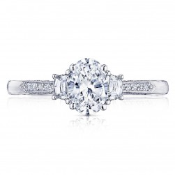 2659OV7X5 Platinum Simply Tacori Engagement Ring