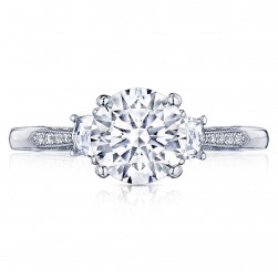 2659RD75 Platinum Simply Tacori Engagement Ring