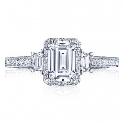 2662EC7X5 Platinum Tacori Dantela Engagement Ring