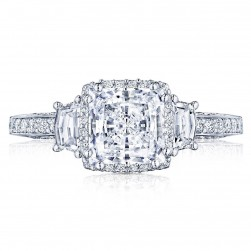 2663PR65 Platinum Tacori Dantela Engagement Ring