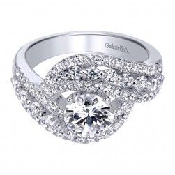 Gabriel 14 Karat Contemporary Engagement Ring ER5498W44JJ