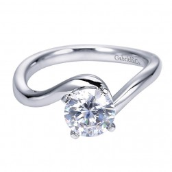 Gabriel 14 Karat Contemporary Engagement Ring ER6683W4JJJ