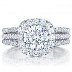 HT2551CU75 Platinum Tacori Petite Crescent Engagement Ring