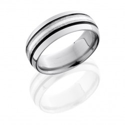 Lashbrook 8D31/SSA STONE-POLISH Titanium Wedding Ring or Band