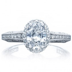 Tacori 2618OV75X55 Platinum Reverse Crescent Engagement Ring