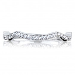 Tacori 2647SMB 18 Karat Ribbon Diamond Wedding Band