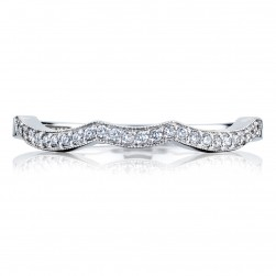 Tacori 2648LGB 18 Karat Ribbon Diamond Wedding Band
