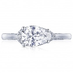 Tacori 2654PS9X6 18 Karat Simply Tacori Engagement Ring