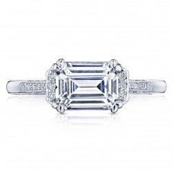 Tacori 2655EC8X6 18 Karat Simply Tacori Engagement Ring