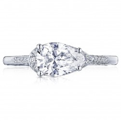 Tacori 2655PS85X55 18 Karat Simply Tacori Engagement Ring