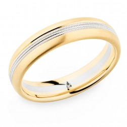 274420 Christian Bauer 18 Karat Two-Tone Wedding Ring / Band