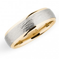 274461 Christian Bauer 18 Karat Two-Tone Wedding Ring / Band