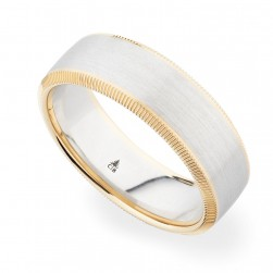 274469 Christian Bauer 18 Karat Two-Tone Wedding Ring / Band