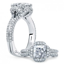 A.JAFFE Platinum Signature Engagement Ring MES682