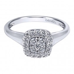 Gabriel 14 Karat Contemporary Engagement Ring ER10776W44JJ
