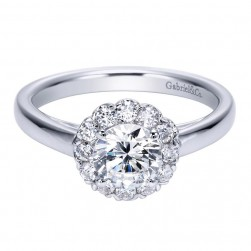 Gabriel 14 Karat Contemporary Engagement Ring ER7810W44JJ