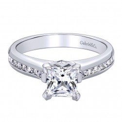 Gabriel 14 Karat Contemporary Engagement Ring ER8876W44JJ