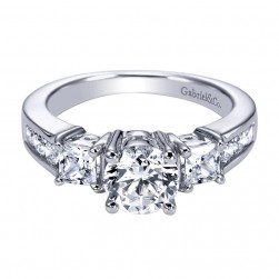 Gabriel 14 Karat Contemporary Engagement Ring ER93677W44JJ