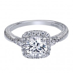 Gabriel 14 Karat Contemporary Engagement Ring ER10280W44JJ