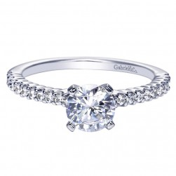 Gabriel 14 Karat Contemporary Engagement Ring ER7980W44JJ