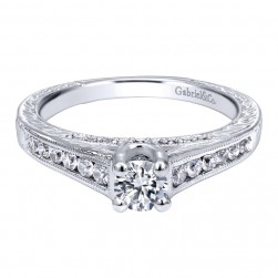 Gabriel 14 Karat Contemporary Engagement Ring ER910176W44JJ