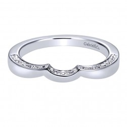 Gabriel 14 Karat Contemporary Wedding Band WB6288W44JJ