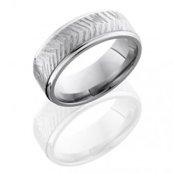 Lashbrook 8FGE DISC 3 Satin-Polish Titanium Wedding Ring or Band