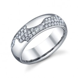 246804 Christian Bauer 14 Karat Diamond  Wedding Ring / Band